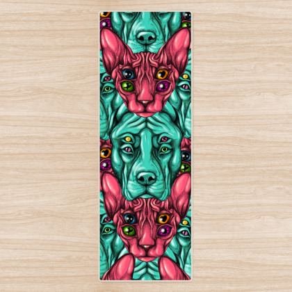 Cats and Dogs Yoga Mat