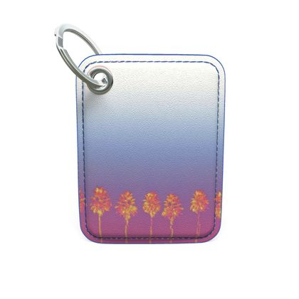 Palm Trees Collection Premium Painted Edge Keyring