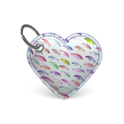 Tropical Fish Collection Premium Painted Edge Keyring