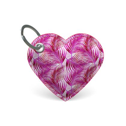 Tropical Garden Collection in Magenta Premium Painted Edge Keyring