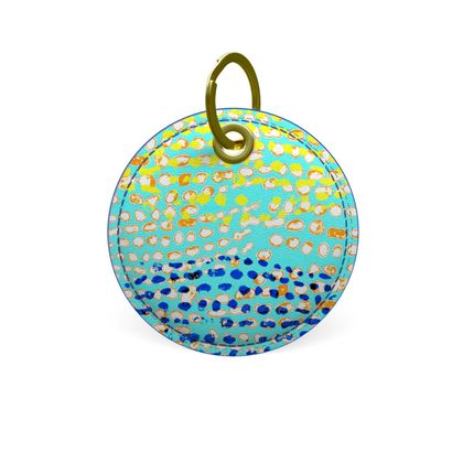 Textural Collection multicolored Premium Painted Edge Keyring