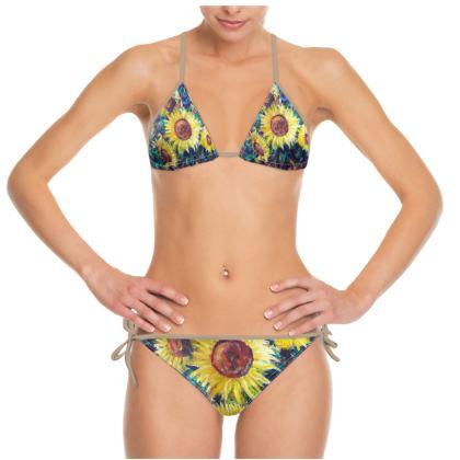Sunflower Bikini  by Alison Gargett