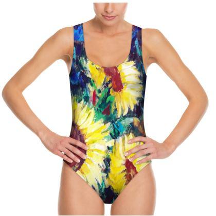 Sunflower swimsuit by Alison Gargett
