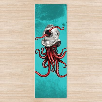 The Squid and the Helmet Yoga Mat