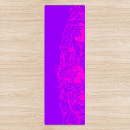 Purple Wave Yoga Mat