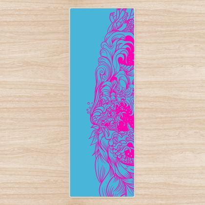 Blue Wave Yoga Mat