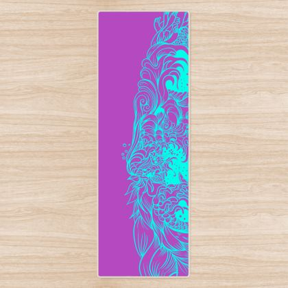 Purple and Blue Wave Yoga Mat