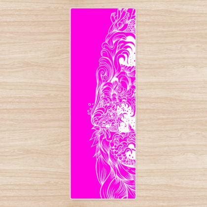 Pink Wave Yoga Mat