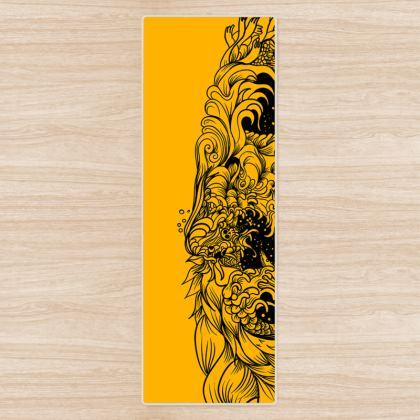 Yellow Wave Yoga Mat