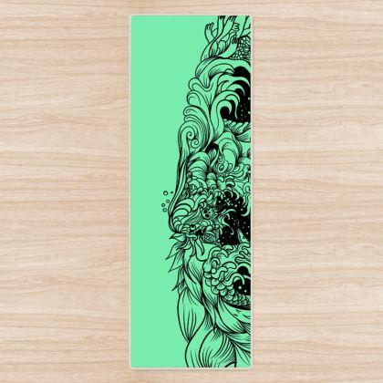 Green Wave Yoga Mat