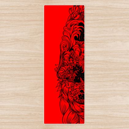 Red wave Yoga Mat