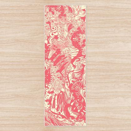 Pink Ocean Yoga Mat