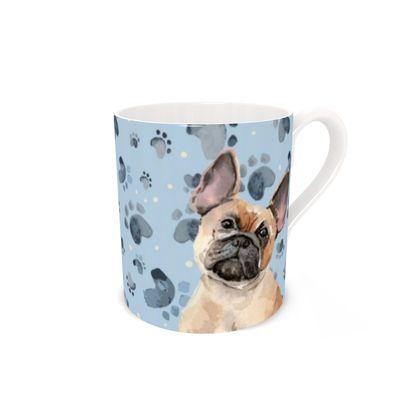 French Bulldog Mug -Blue