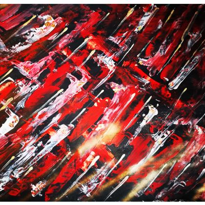 Abstract Red Leggings