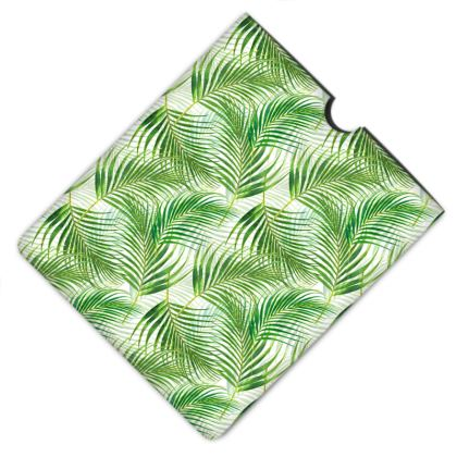 Tropical Garden Collection Leather IPad Case