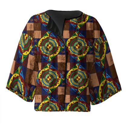 Afrokara Steampunk Ankara Kimono Jacket