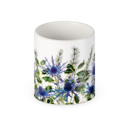 Holly Bouquet Ceramic Mug