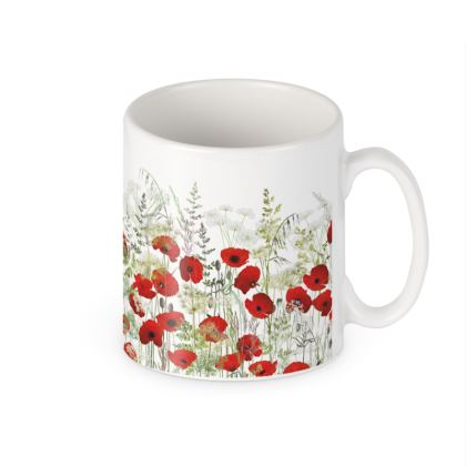 Ceramic Mug - Poppy Field
