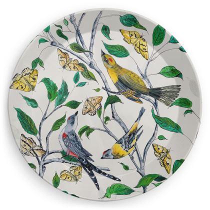Birds + Butterflies Picnic Plates