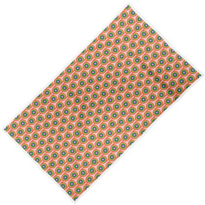PINK RAINBOW PATTERN BEACH TOWEL
