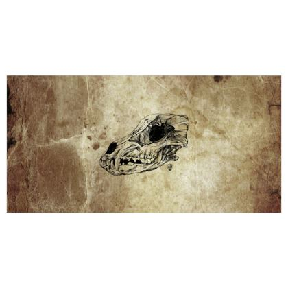 Wolf Skull Voile Curtains