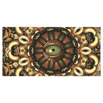 Mandala Eye 2 Voile Curtains