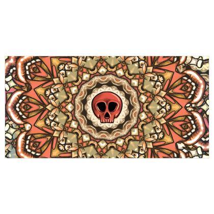 Mandala Skull Voile Curtains