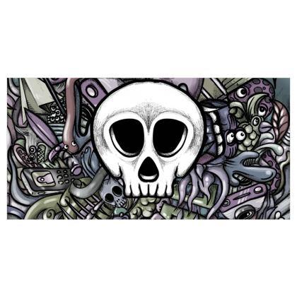 White Skull Voile Curtains