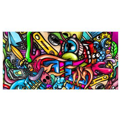 Doodles Voile Curtains