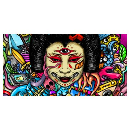 Geisha Doodles Voile Curtains