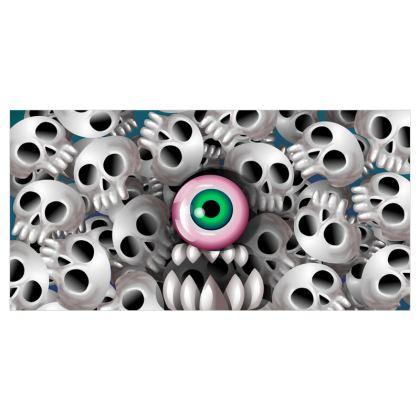 Skull Monster Voile Curtains