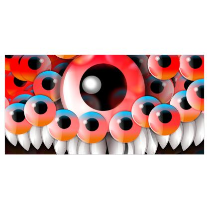 Monster eyes Voile Curtains