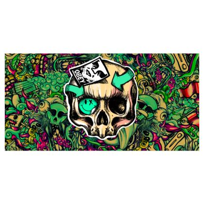 Skull and Doodles Voile Curtains
