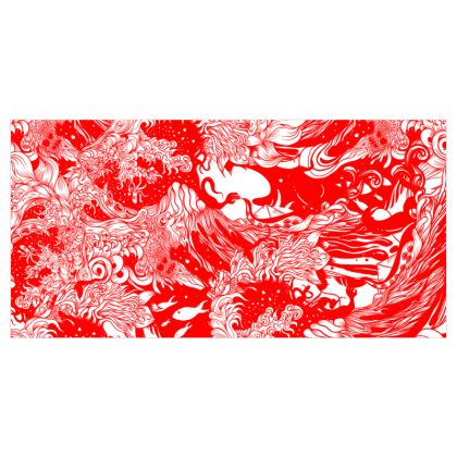 Red Wave Voile Curtains