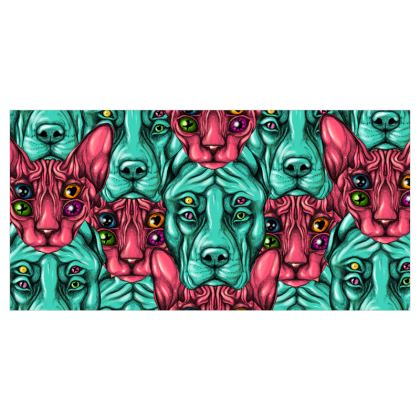 Cats and Dogs Voile Curtains
