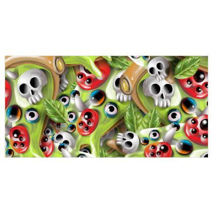 Pizza Monster Voile Curtains