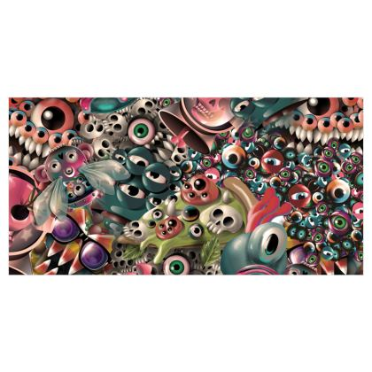 Monster World Voile Curtains