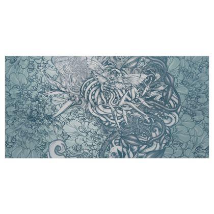 Mix Blue Voile Curtains