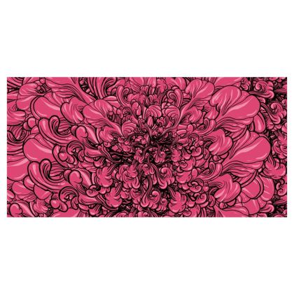 Pink Flower Voile Curtains