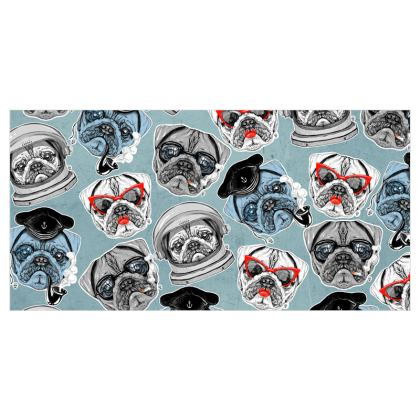 Pugs Voile Curtains