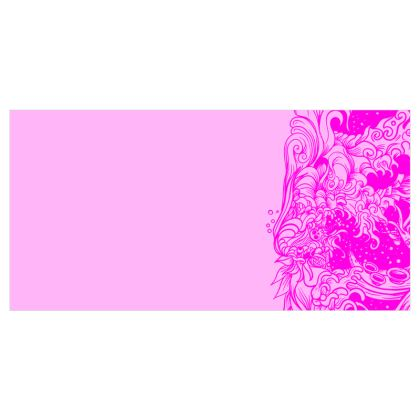 Wave Pink Voile Curtains