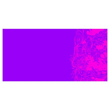 Wave Pink and Purple Voile Curtains