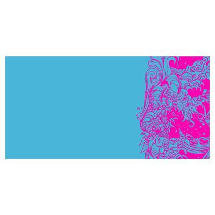 Wave Blue Voile Curtains