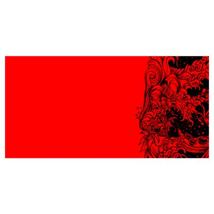 Wave red Voile Curtains