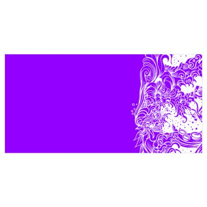 Wave Purple Voile Curtains