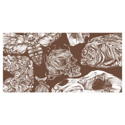 Bones and co Brown Voile Curtains