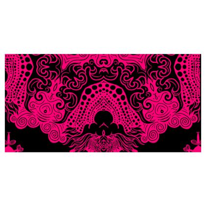 Pink Symmetry Voile Curtains