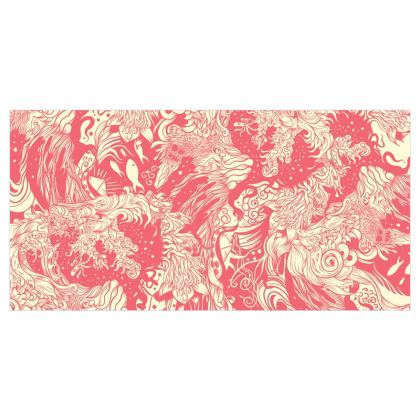 Pink Wave Voile Curtains