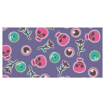 Bones and EyeBalls Voile Curtains