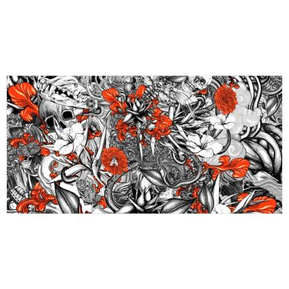 Floral and Skulls Curtains